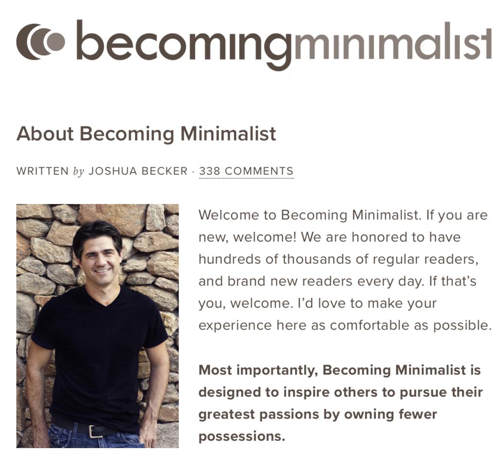 Becoming Minimalist - Joshua Becker
