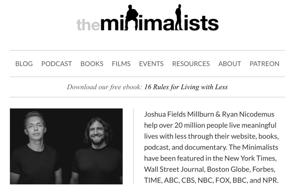 The Minimalists - Joshua Fields Millburn & Ryan Nicodemus
